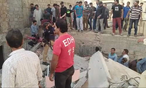 3 dead after three-storey building collapses in Karachi; operation underway