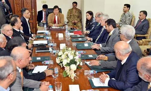 Govt now focusing on promotion of economic growth, PM Khan tells business leaders