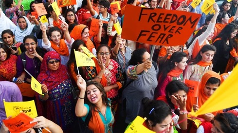 The Aurat March challenges misogyny in our homes, workplaces and society, say organisers ahead of Women's Day