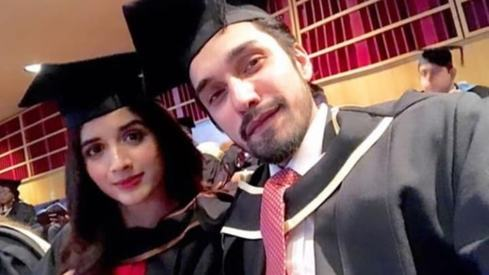 Mawra Hocane and Uzair Jaswal celebrate graduating from University of London