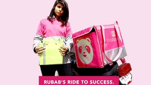 Rubab Jubani becomes Pakistan's first-ever female food delivery rider
