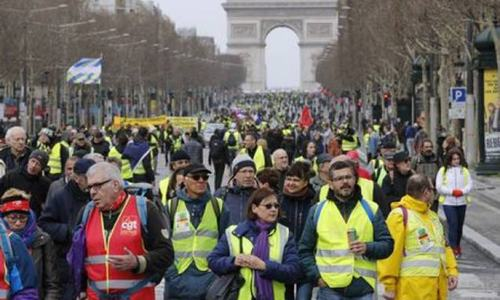 Thousands march in France in latest 'yellow vest' protests