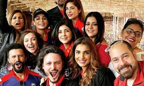 پاکستان سپر لیگ اور شوبز ستاروں کا جوش و جنون