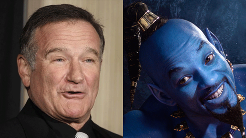 Will Smith pays tribute to Robin Williams' genie in Aladdin