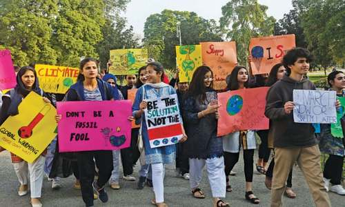 Youth Strike 4 Climate demo held at Bagh-i-Jinnah