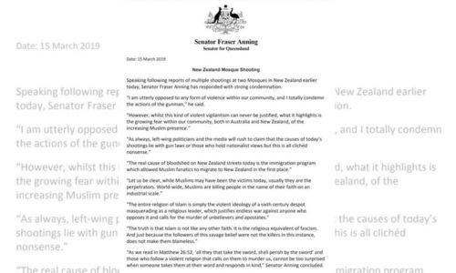 سینیٹر کے اس بیان پر خود آسٹریلوی شہریوں نے غم و غصے کا اظہار کیا—بشکریہ ٹوئٹر