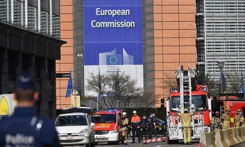 برسلز: یورپی یونین کے ہیڈکوارٹرز کے قریب بم کی اطلاع