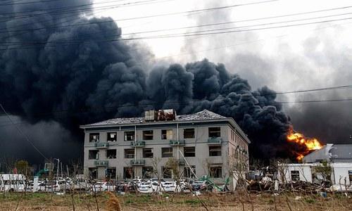 چین کے کیمیائی پلانٹ میں دھماکا، 47افراد ہلاک
