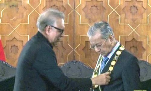 Pakistan's highest civil honour conferred on Malaysian prime minister