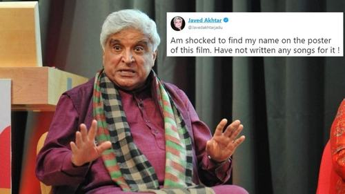 Javed Akhtar's name is on the Modi biopic poster and he isn't happy
