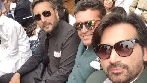 Humayun Saeed, Adnan Siddiqui and Fakhr-e-Alam attend Pakistan Day Parade
