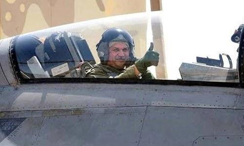 ہم آپ کی فضاؤں کے نگہبان ہیں، ایئرفورس چیف کا طیارے سے پیغام