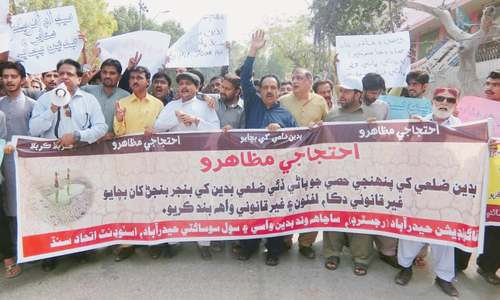 Growers hold march in Badin against 'artificial' water shortage