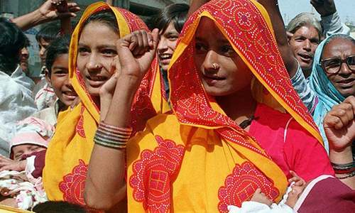 Protest against 'forced' conversion of Hindu girls