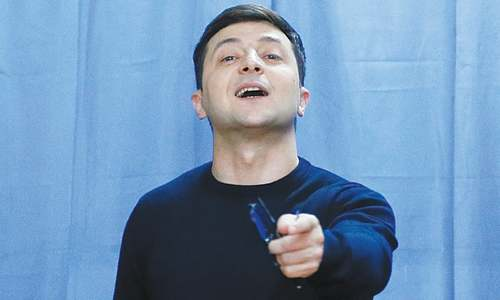Comedian leading in Ukraine presidential election