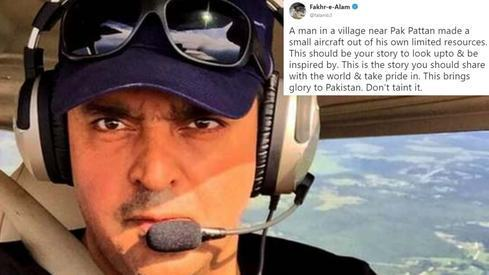Fakhr-e-Alam defends man arrested for flying 'homemade' airplane