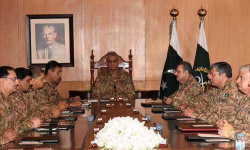 Corps commanders resolve to support govt in implementation of NAP