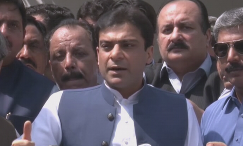 Hamza lashes out at NAB after raid on residence for his arrest