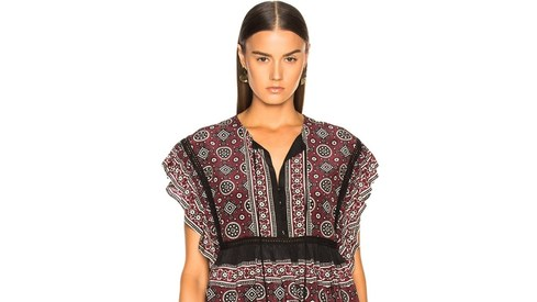 Why is this New York fashion brand selling ajrak designs as 'brick multi'?