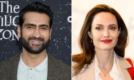 Kumail Nanjiani and Angelina Jolie are in talks to star in upcoming Marvel movie