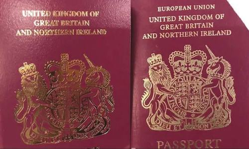 UK issuing passports without 'European Union' on cover