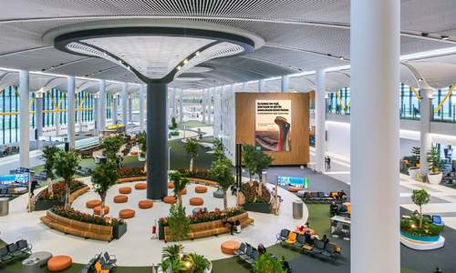 دنیا کے سب سے بڑے ائیرپورٹ کی دنگ کردینے والی تصاویر
