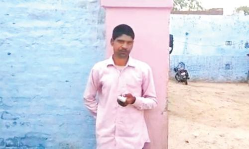 Indian man cuts off finger after voting for Modi's party