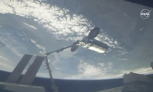 Private cargo ship brings Easter feast to space station