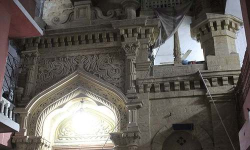 Mosque vandalised by unknown suspect in Karachi's Steel Town area