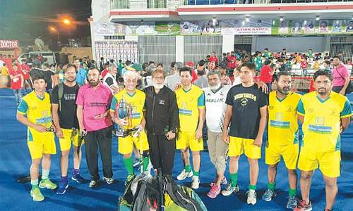 Qamar brace seals Pakistan Veterans Yellows hockey title