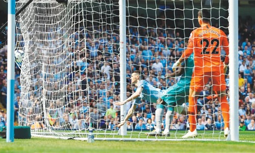 Foden header takes Man City back to top, Brighton boost survival chances