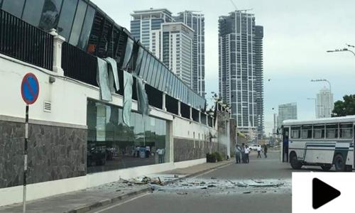 سری لنکا میں بم دھماکوں کے فوری بعد کے مناظر