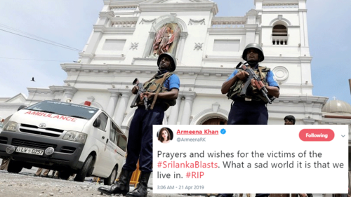 Stars send prayers to victims of the Sri Lanka bomb attacks