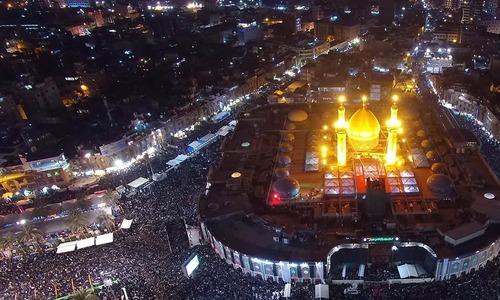 عراق: زائرین کی تعداد میں اضافہ، روضہ امام حسین کے احاطے میں توسیع