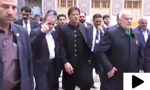 وزیر اعظم پاکستان کا ایران میں مقدس مقامات کا دورہ
