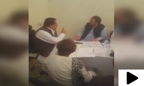 ایم پی اے نذیر چوہان اور وفاقی وزیر طارق بشیر چیمہ میں تلخ کلامی