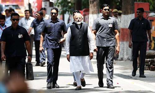Indian PM Modi files nomination papers in general election 2019