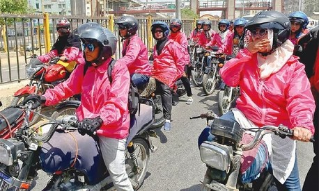 These 100 women came out on bikes in Karachi to rally for female mobility