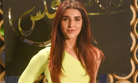 Hareem Farooq's red carpet look is proof that neon is here to stay