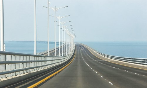 Kuwait opens massive causeway to free trade zone
