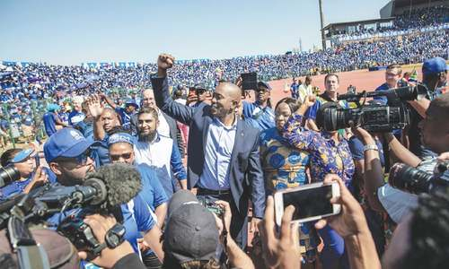 'Give change a chance': South African opposition leader Maimane