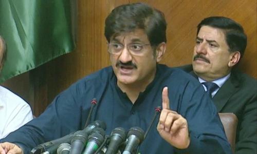 Murad blames 'precarious' financial position of Sindh on Centre