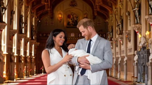 Prince Harry and Meghan Markle introduce baby boy to the world