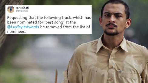Faris Shafi withdraws his track from LSA's Best Song nomination