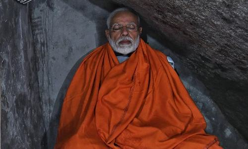 Modi meditates as India mega polls near end