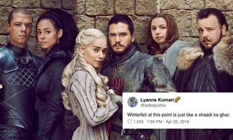 Desi Twitter unites to roast Game of Thrones for its final season