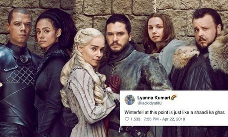 Desis on Twitter unite to roast Game of Thrones for its final season