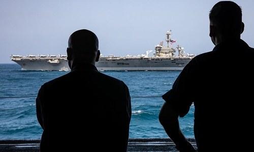 امریکا ایران کشیدگی، خلیج فارس میں امریکی افواج کی مشقیں
