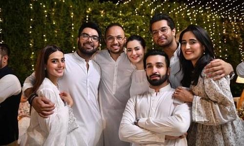 ہانیہ عامر، یاسر حسین اور اقراء عزیز ایک ساتھ افطار پارٹی میں شریک