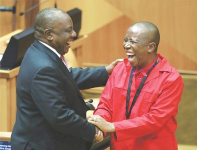 S. African parliament re-elects Ramaphosa as president